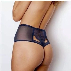 VS sexy high waist Chantilly Lace thong panty S